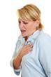 Frau fühlt Druck im Herz