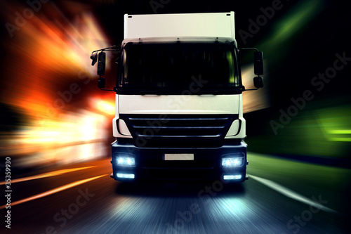 Truck at Night