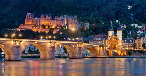 Heidelberg Alte Brücke und Schloss - 35360145