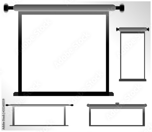 Set of blank, realistic advertising constructions vector