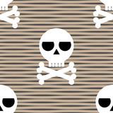 skull and crossbones seamless pattern poster