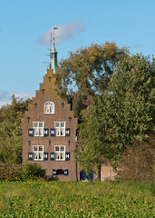"Castle ""Meeuwen"" is a 19th century castle in the Dutch village o"