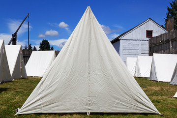 Old Canvas Army Tents