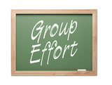 Group Effort Green Chalk Board Series poster