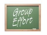 Group Effort Green Chalk Board Series poster