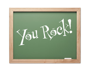 You Rock! Green Chalk Board Kudos Series