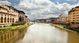 Arno river in Florence (Firenze) poster