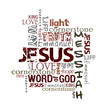 Religious Words isolated on white