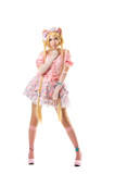 Young woman in lolita costume cosplay isolated poster