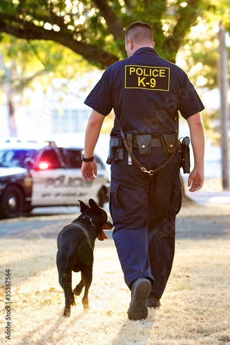 K9 Handler and his Partner