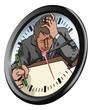 Stressed man clock concept