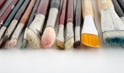 Verschiedene Künstlerpinsel
