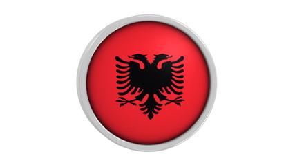 Albanian flag with circular frame