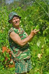 Gardener with cucumbers 3