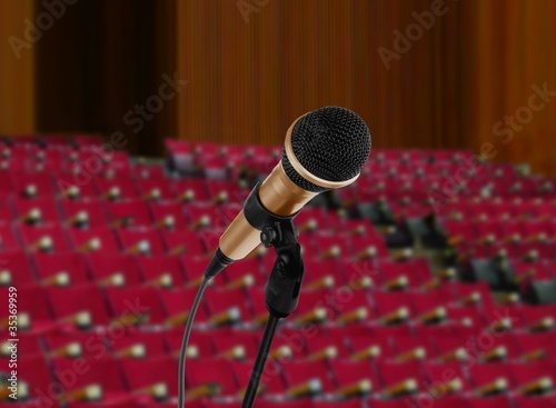 Microphone in lecturer hall