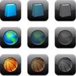 Square modern app icons.