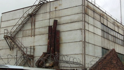 dismantling of old structures