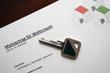 Mietvertrag mit Wohnungsschlüssel