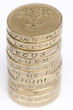 One Pound Coin Stack