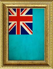 Bandiera delle isole Fiji incorniciata