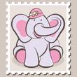 stamp Elephant Girl