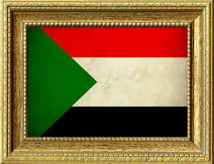 Bandiera del Sudan incorniciata
