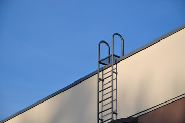 Close-up ladder to roof