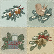 Collection of vintage christmas cards