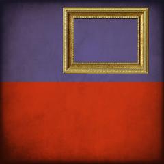 Bandiera del Liechtenstein con cornice personalizzabile