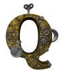 steampunk letter q
