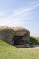 Bunker from Second World War in Normandy France