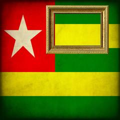 Bandiera del Togo con cornice personalizzabile
