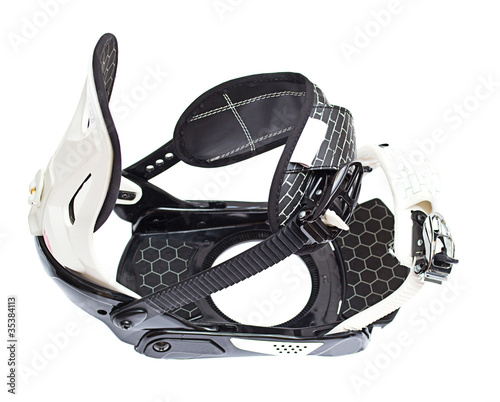 Snowboard binding isolated