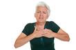 Seniorin bekommt Schlaganfall