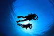 Leinwanddruck Bild - Scuba Diving