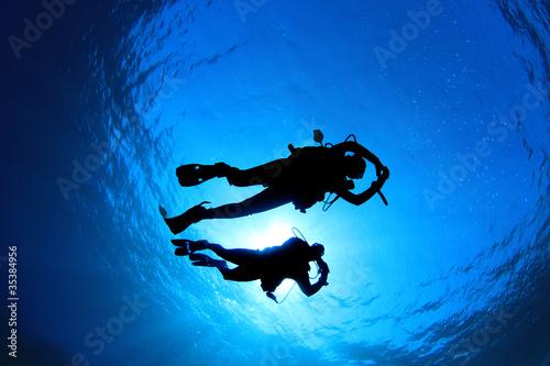 Leinwanddruck Bild Scuba Diving