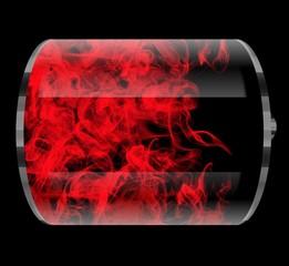 Battery on fire