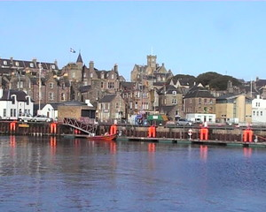 Lerwick waterfront Shetland Islands Scotland