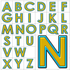 abc alphabet background college halo design
