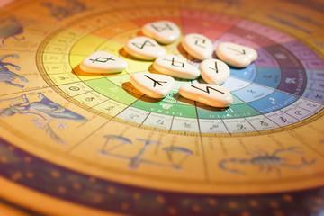 Rune Stones and Zodiac Wheel