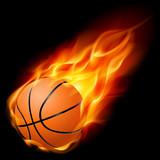 Fototapety Basketball on fire