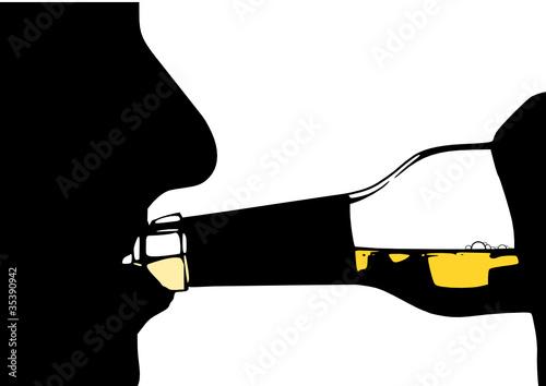 Mann Silhouette Alkohol - 35390942