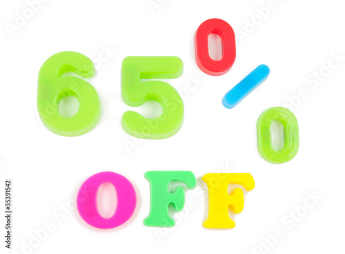 65% written in fridge magnets
