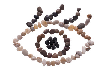Eye symbol of small stones