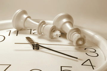 Chess Pieces on Clock