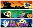 Halloween banners set 4