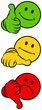 Smileys 1 Thumb Up, Middle & Down