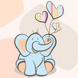 elephant & Balloons Boy