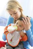 Fototapety Baby sitter avec bébé