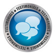 TESTIMONIALS Web Button (satisfaction thumbs up recommend kudos)